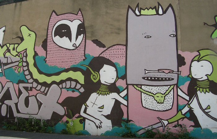 Former artwork by Kid Acne, August 2008